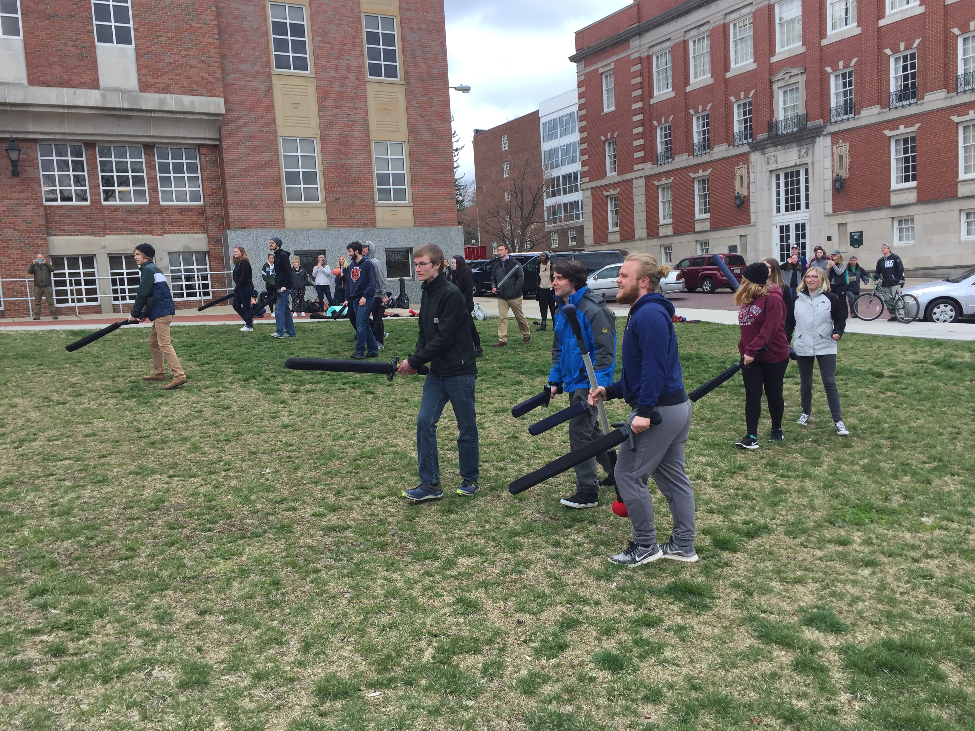LARP demonstration in Dr. Kevin Uhalde's HIST 1222 course at Ohio University.